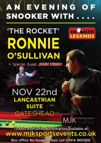 Ronnie O'Sullivan Gateshead