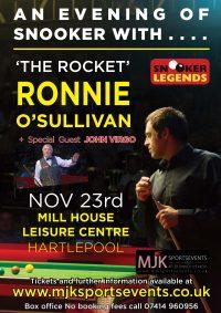 Ronnie O'Sullivan Hartlepool