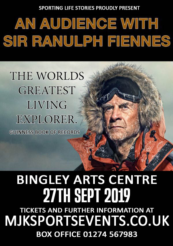 Sir Ranulph Fiennes Bingley Arts Centre