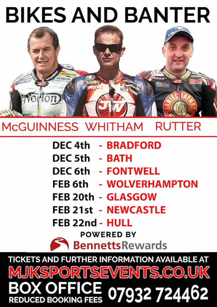 BIKES and BANTER with McGuinness Whitham and Rutter